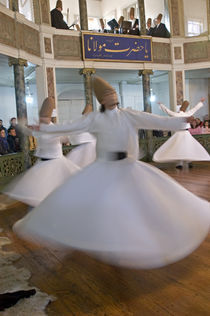 Whirling Dervishes performing dance, Istanbul, Turkey by Panoramic Images