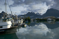 Boats moored at the harbor, Valdez, Valdez-Cordova, Alaska, USA von Panoramic Images