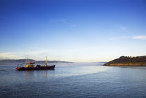 Mussel Boat at Dawn, Arthurstown, Waterford Harbour, Co Waterford, Ireland by Panoramic Images