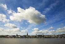 Waterford City Skyline from the North Bank of the River Suir von Panoramic Images