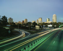 Traffic moving on a road, Winston-Salem, North America, USA von Panoramic Images