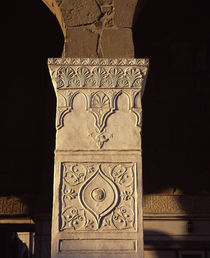 Details of carvings on the column of a mosque, Syria von Panoramic Images