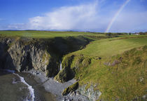 Rainbow over Ballydowane, The Copper Coast, County Waterford, Ireland von Panoramic Images
