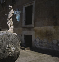 Statue of an angel in an alley, Rome, Italy by Panoramic Images