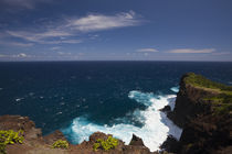 High angle view of cliffs at the coast by Panoramic Images