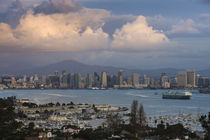 Harbor and city viewed from Point Loma by Panoramic Images