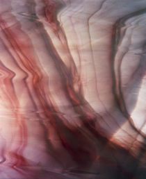Close up of fabric with red and white marbling von Panoramic Images
