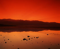 Reflection of mountains in water, Badwater, Death Valley, California, USA by Panoramic Images