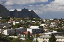 High angle view of a city, Reunion Island von Panoramic Images