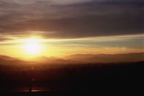 Sunset over mountains, Interstate 5, Grants Pass, Josephine County, Oregon, USA by Panoramic Images