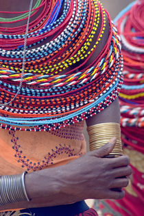 Samburu tribal beadwork von Panoramic Images