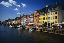 Buildings at the waterfront, Nyhavn, Copenhagen, Denmark von Panoramic Images