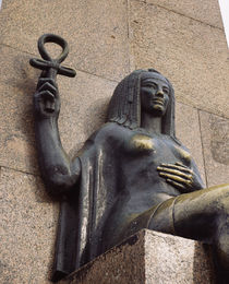 Woman's statue holding an Ankh, Alexandria, Egypt von Panoramic Images