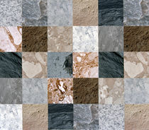 Wall of horizontals like quilt in various colored marble von Panoramic Images