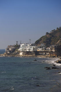 Houses at the waterfront, Malibu, Los Angeles County, California, USA by Panoramic Images