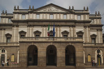 Facade of an opera house, La Scala, Milan, Lombardy, Italy by Panoramic Images