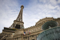 Low angle view of a hotel, Paris Las Vegas, The Strip, Las Vegas, Nevada, USA by Panoramic Images