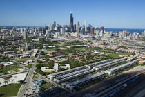 Aerial view of a city, Chicago, Cook County, Illinois, USA 2010 von Panoramic Images