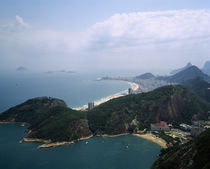 Aerial view of a mountain range, Sugarloaf Mountain, Rio De Janeiro, Brazil by Panoramic Images