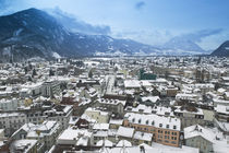 High angle view of buildings in a town, Interlaken, Berne, Switzerland von Panoramic Images
