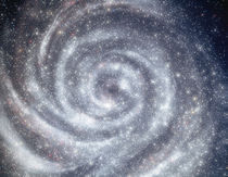 Space, swirling galxy by Panoramic Images