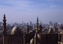 High angle view of a mosque, Sultan Hassan Mosque, Cairo, Egypt von Panoramic Images