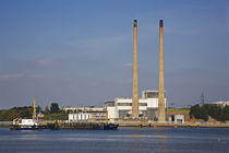 Great Island Powerstation and Passing Dredger by Panoramic Images