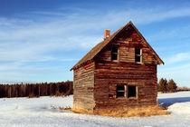 Log Farm House by Leslie Philipp