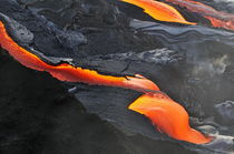 River of molten lava, close-up, Kilauea Volcano, Hawaii Islands, United States