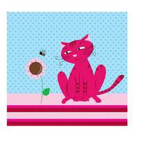 Pink cat von Amélie Mimeault