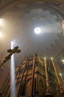 Easter, the Ceremony of the Holy Light at the Church of the Holy Sepulchre  von Hanan Isachar