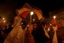Easter, Ethiopian Orthodox procession at the Church of the Holy Sepulchre by Hanan Isachar