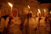 Easter, Ethiopian Orthodox pilgrims at the Church of the Holy Sepulchre by Hanan Isachar