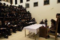 Hanukkah at the Premishlan congregation by Hanan Isachar