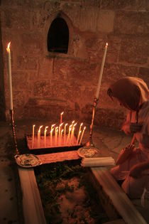 A prayer at the Ascension Chapel on the Mount of Olives by Hanan Isachar