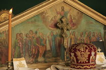 Jerusalem, Greek Orthodox Ascension Day ceremony at the Ascension Chapel by Hanan Isachar