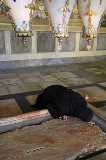 The Stone of Anointing at the Church of the Holy Sepulchre