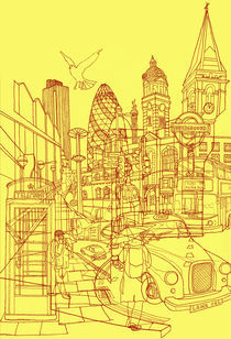 London! Yellow/Red by David Bushell