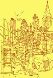 'London! Yellow/Red' by David Bushell