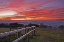 Sunset over the Brendon Hills by Richard Winn