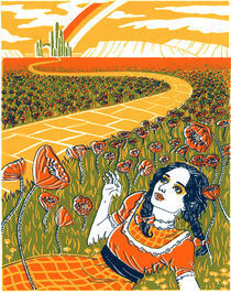 Dorothy in the Poppy Field by Julia Minamata