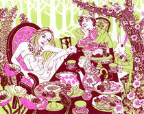 Alice at the Tea Party von Julia Minamata