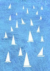 Sailing Race Painting von Nic Squirrell