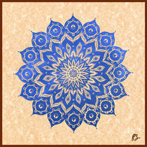 Okshirahm: Blue Lotus Mandala by Peter Barreda