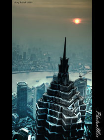 Blue Metropolis Sunset von Andy Brandl