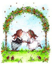 Tierkinder - Wenn Hasen Hochzeit feiern von Katja Kiefer