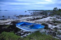 Blue boat Vesteraalen by Bente Haarstad