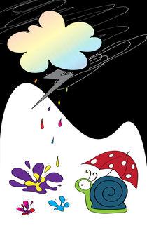 Happy rain by Amélie Mimeault