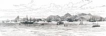 General view of Rio de Janeiro from the bay, Brazil, 1893 von Laeti Images