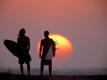 Surfer silhouettes by Sean Davey